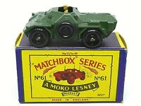 Matchbox Lesney No.61a Ferret Scout Car In Type 'B3' Series MOKO Box (1st ISSUE)