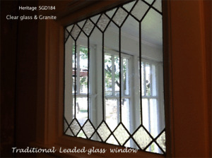Heritage Leaded glass window.handcrafed in  Clear & obscure glass
