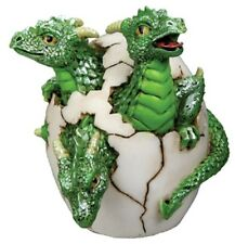 Mythical Three Headed Green Dragon Hatchling From Egg Fantasy Figurine