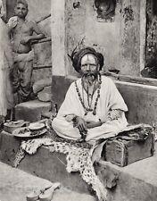 1928 Vintage INDIA Bhubaneswar Sadhu Hindu Hermit Man Spiritual Jata ~ HURLIMANN