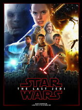 "017 Star Wars The Last Jedi - Daisy Ridley Action USA 2017 Movie 24""x32"" Poster"