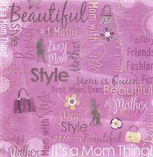 Karen Foster - Mom Collage Scrapbooking Paper- 64444 - #1 Mom Mother