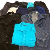 Womens Sz 16 Plus Clothes Lot 12 Piece Mixed Pants Blouses Tops Shorts Button Up