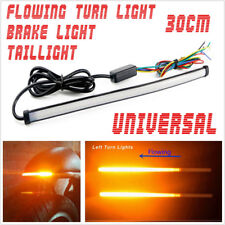 29cm Motorbike Sequential Switchback Flowing Dual LED Turn Signal Lamp DRL Strip