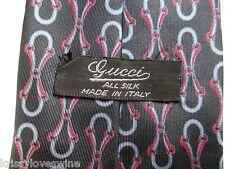 Gucci Neck Tie Black Blue Red HORSEBIT