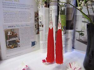 NEW - Tassel Long Earrings - Red