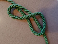 Twisted green cord rope  PER METRE Fancy dress 9mm Diameter tie cable
