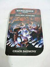 ML Warhammer 40,000 Chaos Daemons Psychic Powers Cards BNIB