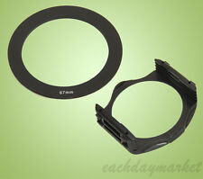 67mm 67 Adapter Ring + Filter Holder Mount for Cokin P Series