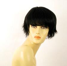 perruque femme 100% cheveux naturel courte noir ref CYNTIA 1b