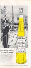 1965 Italiano Galliano Liqueur Vintage Bottle Figure of the Garabiniere PRINT AD