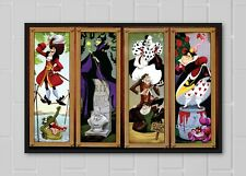 Haunted Mansion Disney Villains Stretching Portraits Attraction Poster