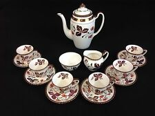 Gray's Pottery Strawberry Copper Lustre 16-Piece Demitasse Coffee Set for SIX