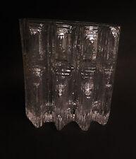 6160:ROSENTHAL, abstrakte Glasvase,Design Martin Freyer,tolle Form-2,7kg schwer.