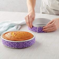 NICE BAKE-EVEN STRIPS Set of 2 - PURPLE - Bake Moist Level Cakes Every Time