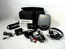 Memorex Portable CD player 1996 MD6100 D.A.S.P/D.B.B.S includes car kit, case