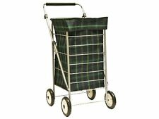 Brand New 4 Wheel Shopping Trolley Adjustable handle with soft grip feature97897