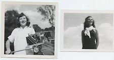 Pretty Woman with Kodak Cine Special II Camera Port Washington NY WI circa 1947