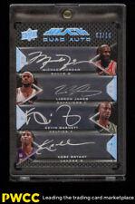 2008 UD Black Quad LeBron James Michael Jordan Bryant Garnett AUTO /10 (PWCC)