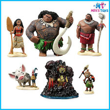 Disney Moana 6 piece Figure Play Set cake topper brand new