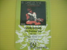 DAVID BOWIE THE PRETTIEST STAR  CARD RARO COLLECTOR 55