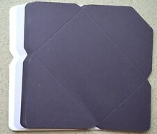9 x C6 Cut & Scored White/Lilac/Purple Ready to Make Envelopes NEW