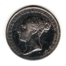 1842 Great Britain Queen Victoria Silver Sixpence. Rare in High Date.