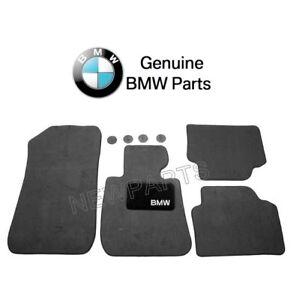 For BMW E90 E91 325i 328i 330i Front & Rear Black Floor Carpeted Mat Set Genuine