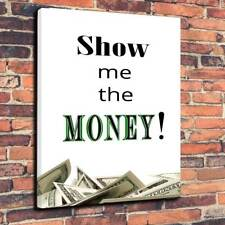 """JERRY MAGUIRE preventivo Show me the Money STAMPA FOTO SU TELA A130""""x20""""x30mm di profondità"""