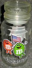 GLASS JAR M&M CHOCOLATE CANDIES CANDY OLYMPIC GAMES 1984 LOS ANGELES XXIII RARE