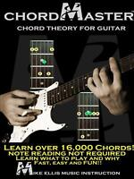 Chordmaster Chord Theory for Guitar -Michael Education Book Aus Stock