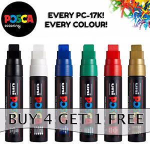 Uni POSCA Paint Marker Pen PC-17K XXL Chisel Tip - 10 colours - Buy 4 Pay for 3