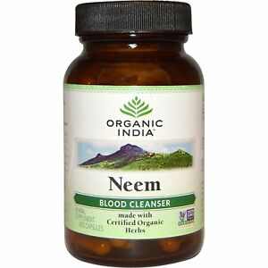 Organic India Neem 60 Capsules- Vegetarian product-100 % Pure Herbal Ayurvedic