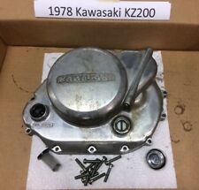 1978 Kawasaki KZ200: Complete clutch, Clutch cover case and hardware