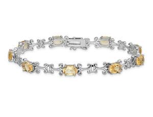 6.75 Carat (ctw) Citrine Bracelet in Sterling Silver