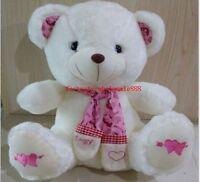 "Kawaii 12'' Scarf Teddy Bear Stuffed ""Pink"" Animal Doll Plush Soft Toy Xmas Gift"