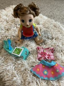 Happy Hungry Brunette Baby Alive Doll