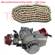 49cc RACE ENGINE High Performance Motor Cag Pocket Dirt Quad ATV bike 25H Chain