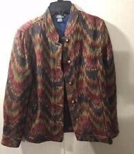 City Blues by Koret Women Multi Colored Southwestern Blazer Jacket Size Medium