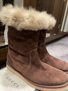Gucci Mens Size 9 Boot Rare Model Fur Lining Cost £1140
