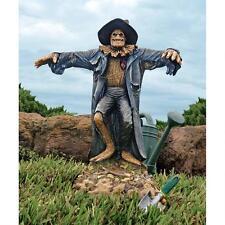 """27"""" Gruesome Grimacing Harvest of Horror Demented Garden Scarecrow Sculpture"""