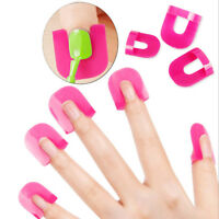 26 PCS/Set Nail Polish Glue Paint Anti-Overflow Clip Finger Protect Tool 10 Size