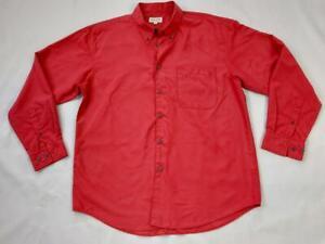 Men's Woods&Gray Long Sleeve Formal Shirt Collar Button Up Red UK L EUR 4