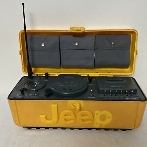 Vintage TeleMania JEEP BoomBox Portable Stereo System AM/FM Cassette Yellow READ