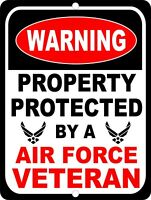 United States Air Force Property Protected Veteran Security Military Metal Sign