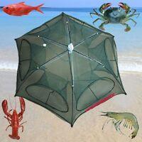 Foldable Crab Net Trap Cast Dip Cage Fishing Bait Fish Minnow Crawfish Shrimp 97