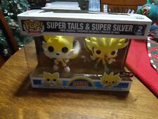 Cool Funko Pop 2 Pack Super Tails & Super Silver Sonic The Hedgehog Vinyl Figure