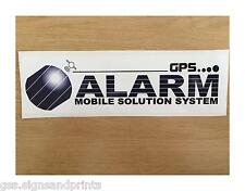 180x50mm Gps Alarma pegatina solución móvil Car Bus Caravan