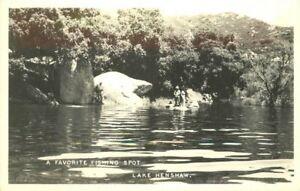 Fishing Spot Lake Henshaw 1940s San Diego California RPPC real photo 6010