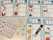 Phoneme Subtraction Wipewriter Card Set & Movable Letter Tiles - Laminated
